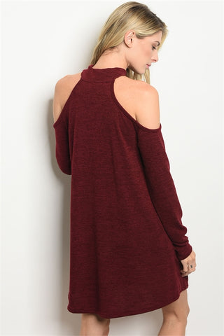 Beauty In Burgundy Tunic Dress