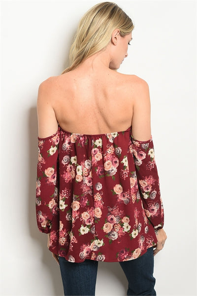 Wine About It Floral Top