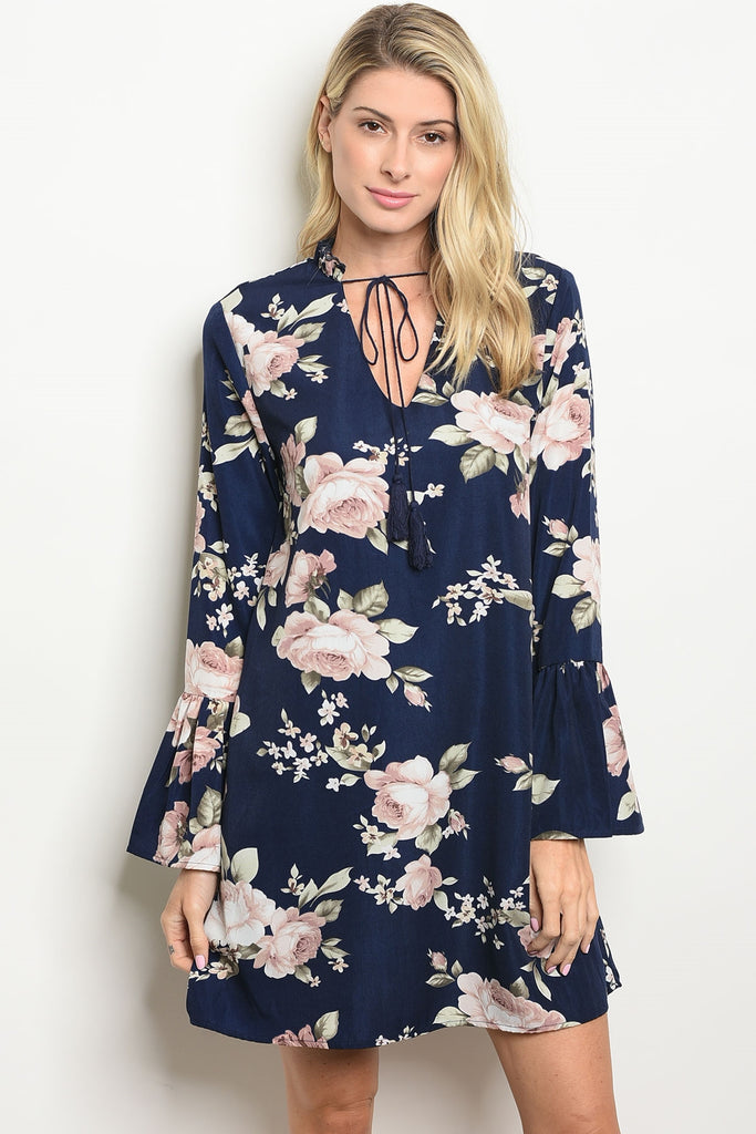 Nice In Navy Floral Dress