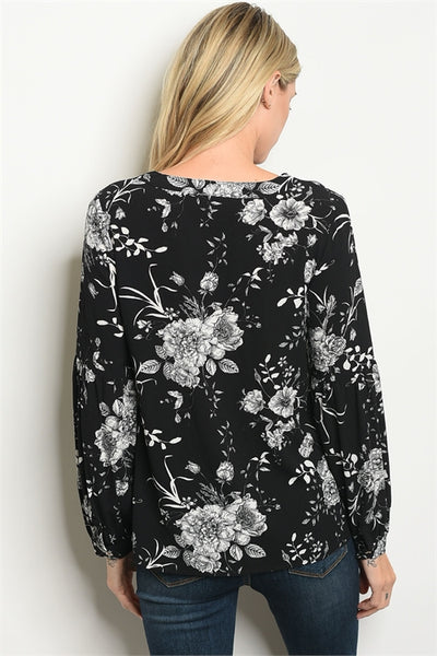 White Florals Top