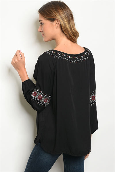 Black Embroidered Beauty Top