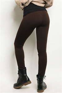 Brown Fleece Lined Leggings