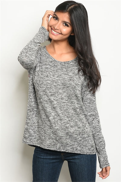 Best Basic Black-Grey Top