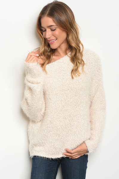 Cozy In Cream Sweater