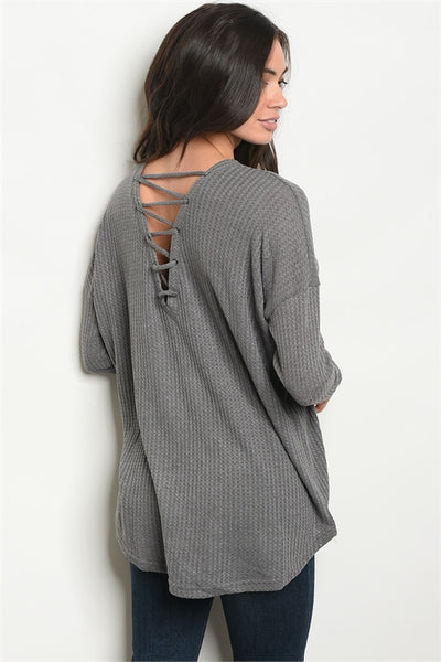 Trendy Grey Top