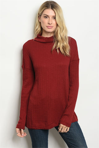 Turtleneck Sweater Knit Top