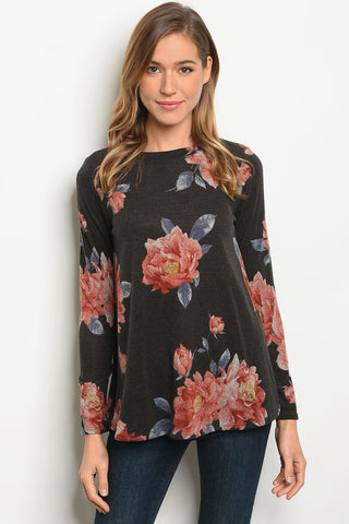 Fab in Floral Sweater Top