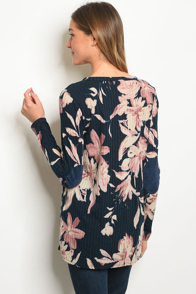 Fabulous in Floral Suede Elbow Patches