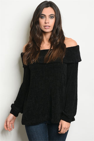 Off-the-shoulder Knit Sweater