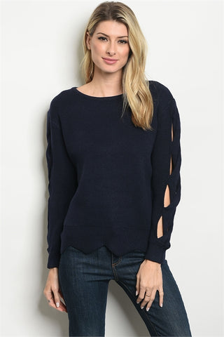 Armed in Navy Sweater