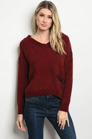 So So Soft Burgundy Sweater