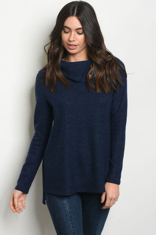 Cute in Cowl Neck Button Top
