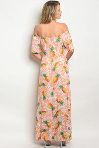 Perfect in Pineapples Maxi Dress