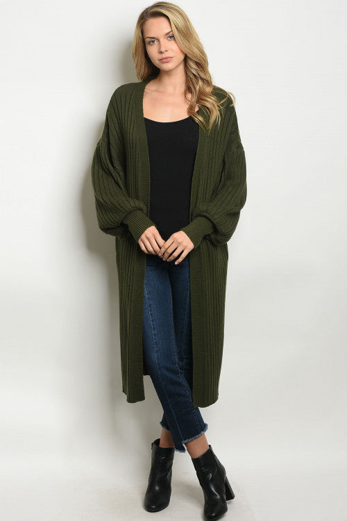 Marvelous in Moss Green Cardigan