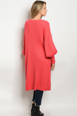 Living For Coral Cardigan