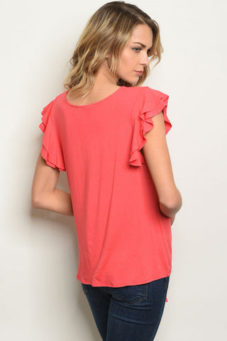 Catchy Coral Top