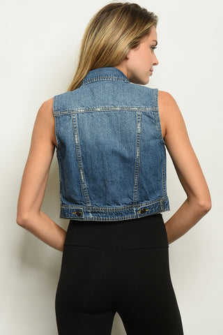 Darlin in Denim Vest