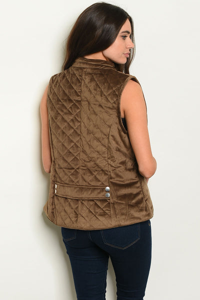 Mocha Quilted Vest