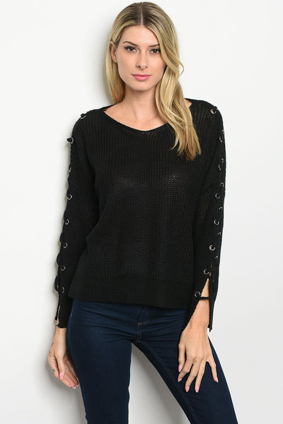 Black Sweater Bargain Babe