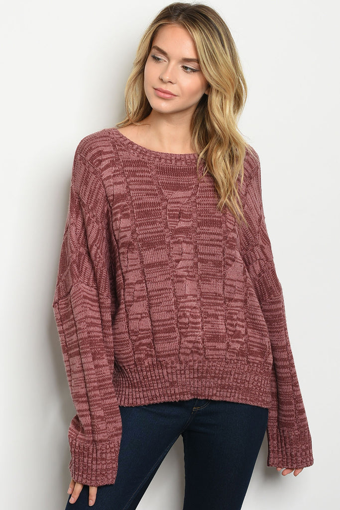 Burgundy Sweater Hyfve
