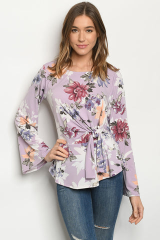 Lilac Floral Top