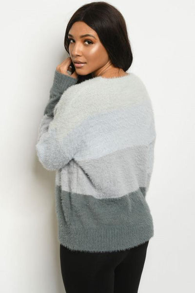 Charcoal and Gray Colorblock Sweater