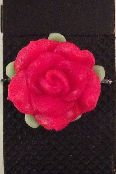 Red Flower Fitfashions Charm
