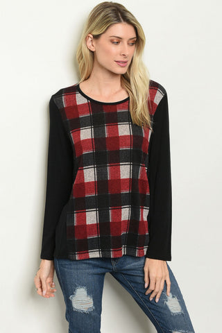 Checkered Out Top
