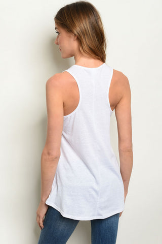 White N Cherries Tank Top