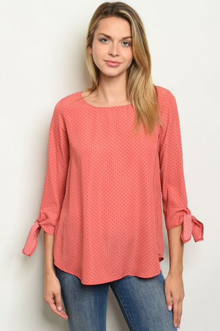 Crazy About Coral Top