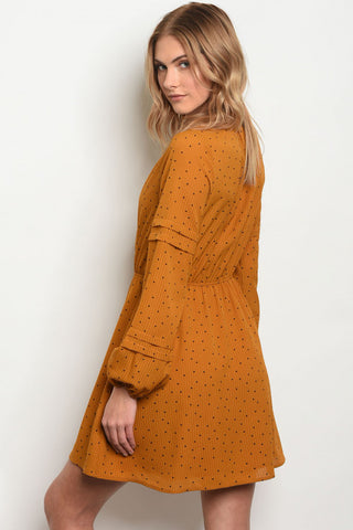 Dotted Camel Dress