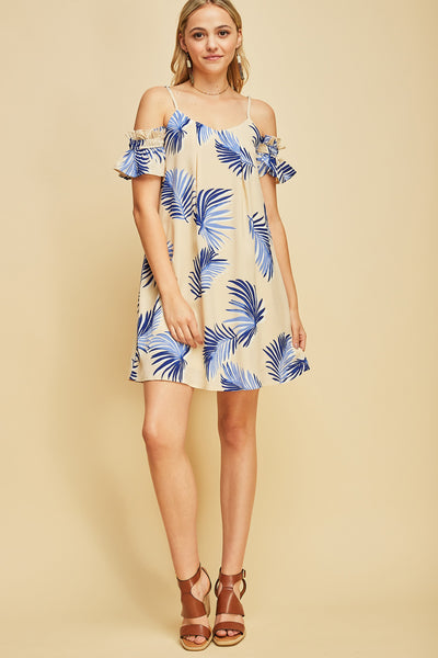 Totally Tropical Palm Leaf Dress