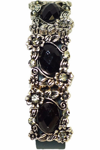 Black Stone and Rhinestone FitFashions Bracelet