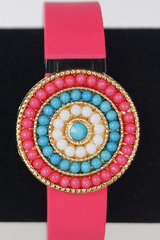 Multi-Color Round FitFashions Charm