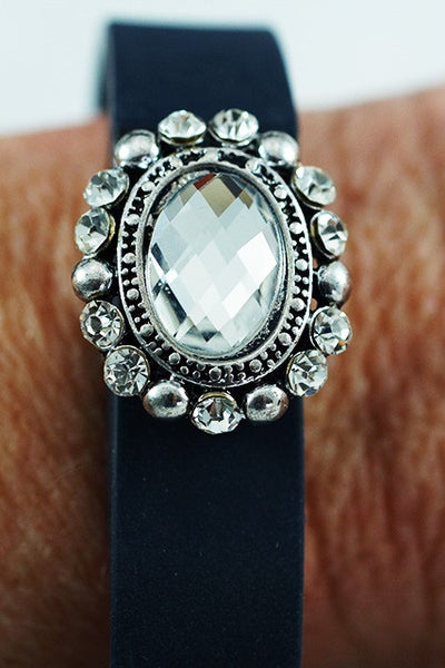 Oval Rhinestone Bling for Fitbit, Jawbone or Vivofit
