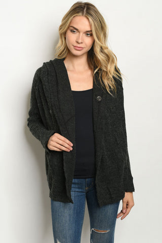 Hooded Black Sweater