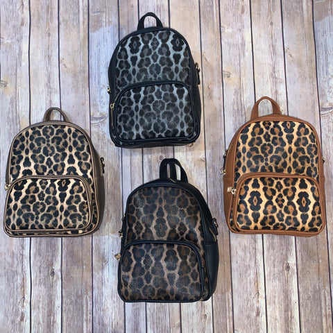 Animal Print Backpack/Crossbody