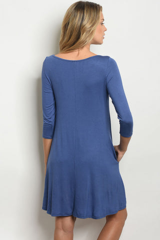 Indigo Criss Cross Dress