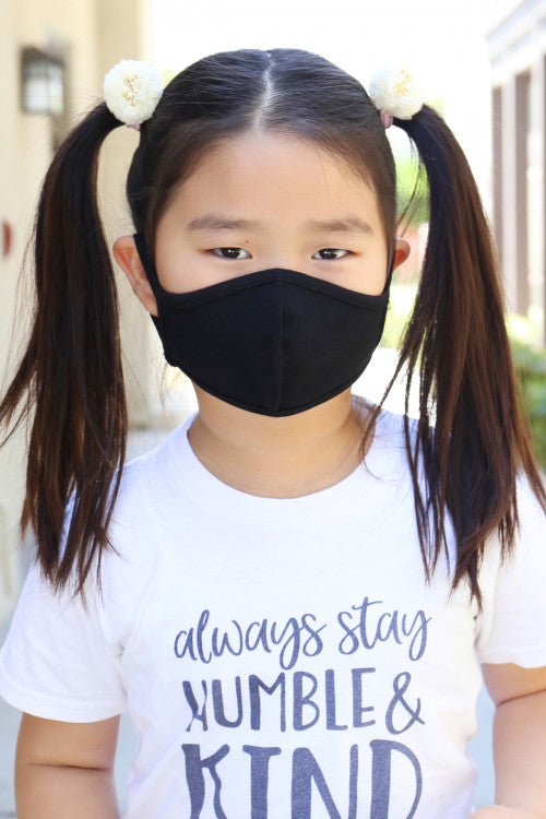 Black Reusable Kid's Face Mask