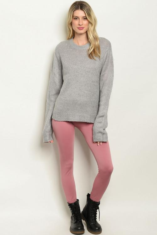 Pink Fleece Lined Leggings
