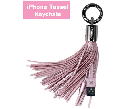 iPhone Tassel Keychain Charger