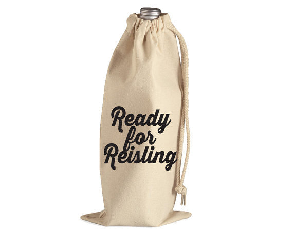 Ready for Riesling Wine Bag//Party Gift