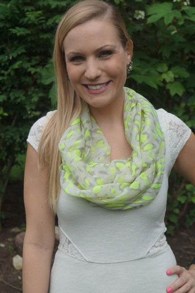 Neon Leopard Print Infinity Scarf