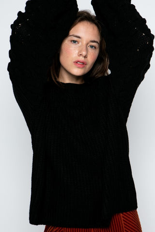 bubble sleeve black