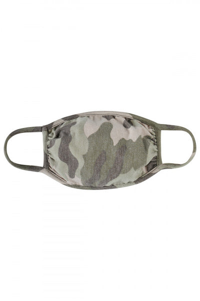 Camo Print Reusable Kid's Face Mask