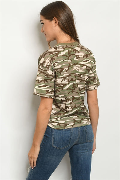 camouflage top