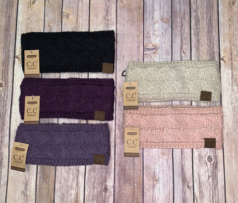 Fuzzy Lined C.C Head Bands