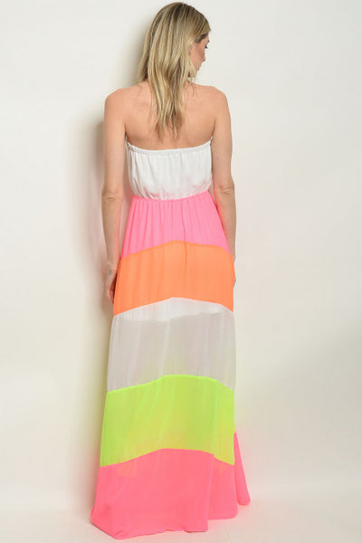 Caught in Color Block Maxi
