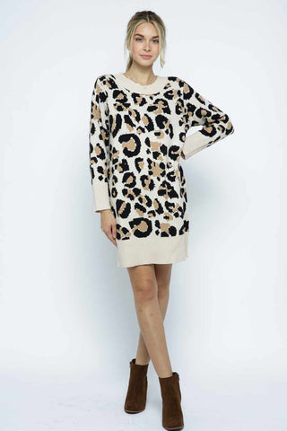 leopard sweater dress