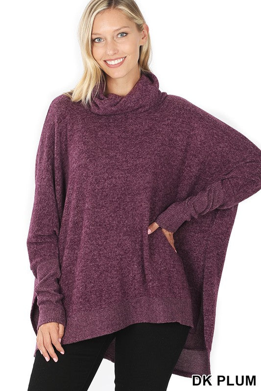 plum cowl sweater
